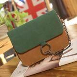 ขาย Best กระเป๋า กระเป๋าสะพาย กระเป๋าสะพายพาดลำตัว Women Shoulder Bag R1116 Green Brown ถูก ใน ไทย