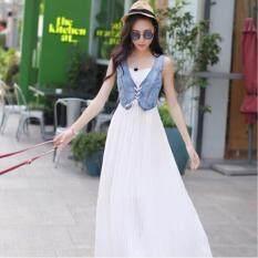 ขาย Bg Premium Match Denim Dress Denim White Bg ใน กรุงเทพมหานคร