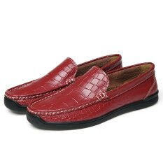 Big Size 39 44 Brand Men Loafers Crocodile Skin Genuine Leather Men Driving Shoes Good Quality Intl Unbranded Generic ถูก ใน จีน