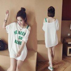 ขาย ซื้อ Bigcat ฝ้ายแขนสั้นกระโปรงหวานน่ารักหลวมชุดนอนขนาดใหญ่ Int L นานาชาติ ใน จีน