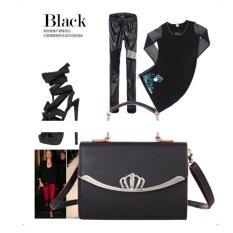ขาย ซื้อ ออนไลน์ Bingo Fashion กระเป๋า กระเป๋าสะพายข้าง กระเป๋าสะพายผู้หญิง Black