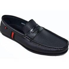 Binsin รองเท้าหนังแบบสวมผู้ชาย Binsin รุ่น M5303 Black Binsin ถูก ใน กรุงเทพมหานคร