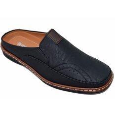ขาย ซื้อ Binsin รองเท้าหนังแบบสวมชายBinsin รุ่น M5066 ฺblack ใน กรุงเทพมหานคร