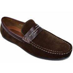 ราคา Binsin รองเท้าหนังแบบสวมผู้ชาย Binsin รุ่น M5307 Coffee Binsin