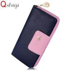 ซื้อ (Birds Clutch)Q Shop Women S Long Wallet Fashion Leisure Purse(Blue) Intl ออนไลน์ จีน