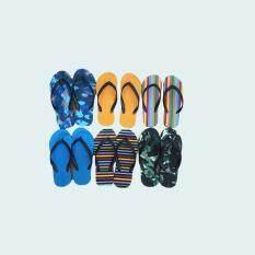 ราคา Bk Shop รองเท้าแตะหูหนีบลายคละสี 6 คู่ ใหม่