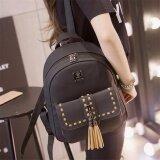 ซื้อ กระเป๋าเป้สะพายหลังแฟชั่น กระเป๋าเป้ผู้หญิง กระเป๋าเป้น่ารักๆ รุ่น Bla016 สีดำ 365Ok ออนไลน์