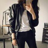 ราคา Preorder999 เสื้อแจ็คเก็ตผู้หญิง เสื้อแจ็คเก็ตหนัง เสื้อแจ็คเก็ตสีดำ แจ็คเก็ตแฟชั่น เกาหลี Black Woman Jacket Biker Rocker ออนไลน์ Thailand
