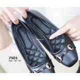 ขาย Bloveshoes Black Flatfrom Code 7501รองเท้าคัชชูส้นเตารีดสีดำ Eu 36