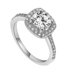 ขาย ซื้อ ออนไลน์ Bluelans® 9กิโลไบต์แหวนแต่งงาน ขาวทอง