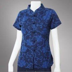 ทบทวน ที่สุด Bm 16 เสื้อม่อฮ่อม คอจีนกระดุมจีน หญิง เข้ารูป