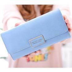 ขาย ซื้อ B Nana Beauty กระเป๋าสตางค์ใบยาว กระเป๋าเงินผู้หญิง กระเป๋าตังตามวันเกิด กระเป๋าสตางค์น่ารัก กระเป๋าตังสวยๆ รุ่น Gc 08 สีฟ้า ใน ไทย