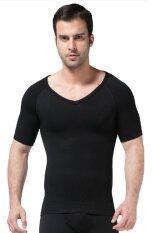 ราคา Bodyfitz เสื้อยืดกระชับสัดส่วนแขนสั้น สำหรับผู้ชาย สีดำ ไทย