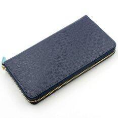 Bogesi กระเป๋าสตางค์หนังแท้ใบยาว รุ่น B005 2 สีน้ำเงิน เป็นต้นฉบับ