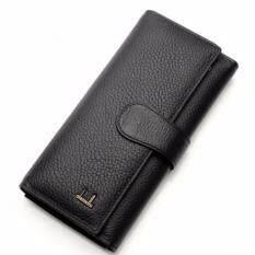 ขาย Bogesi กระเป๋าสตางค์หนังแท้ใบยาวสามพับ รุ่น B005 6 สีดำ ผู้ค้าส่ง