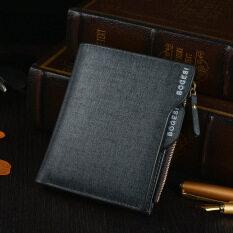 ขาย Bogesi Men S Short Leather Wallet With Removable Card Slot And Coin Purse 832 1 Blue จีน