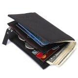 ซื้อ Bogesi Multifunction Men Wallet With The Zipper Wallet Double Design Leather Men S Wallet Coin Pocket Wallet(Black) Intl ถูก