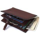 ขาย Bogesi Multifunction Men Wallet With The Zipper Wallet Double Design Leather Men S Wallet Coin Pocket Wallet(Brown) Intl