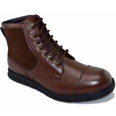 ซื้อ Bok รองเท้าหนังผู้ชายหุ้มข้อ รุ่น Bok104 Brown Bokai ถูก