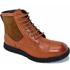 ซื้อ Bok รองเท้าหนังผู้ชายหุ้มข้อ รุ่น Bok104 Coffee