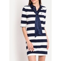 ราคา เดรส Bold Stripes Slot Through Sash 525 Senyes Navy ใหม่
