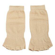 ซื้อ Bolehdeals Comfort Durable Yoga Pilates Half Toe Ankle Grip Five Finger Socks N*d* Intl Bolehdeals