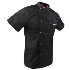 ขาย Bolehdeals Unisex Short Sleeve Chef Jacket Coat Restaurant Cook Uniform M Black Intl ผู้ค้าส่ง