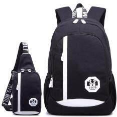 ราคา Boonsiri Set Backpack Shoulder Bag กระเป๋าโน๊ตบุ๊ค กระเป๋าเป้สะพายหลัง กระเป๋าเป้เดินทาง กระเป๋าสะพายพาดลำตัวกระเป๋าคาดอก Bsr 038 สีดำ เป็นต้นฉบับ