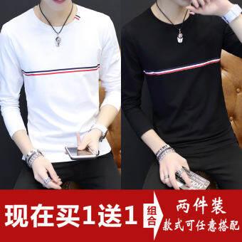 ผู้ชายเสื้อรองในราคาถูกเสื้อยืดแขนยาวผู้ใหญ่สไตล์เกาหลี 10 หยวนสิบเสื้อผ้าฤดูใบไม้ร่วงเสื้อผ้าผู้ชายเก้าเก้าน้ำ