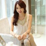 ขาย Bottoming เสื้อเกาหลีถักฤดูใบไม้ผลิและฤดูร้อนลูกไม้ 123 สีขาว ออนไลน์