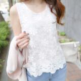 ราคา Bottoming เสื้อเกาหลีถักฤดูใบไม้ผลิและฤดูร้อนลูกไม้ 133 สีขาว ฮ่องกง