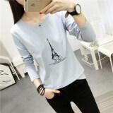 ขาย ซื้อ ออนไลน์ เวอร์ชั่นเกาหลีใหม่ Bottoming เสื้อเล็กๆเสื้อยืด 177 สีฟ้า