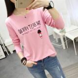 ขาย เวอร์ชั่นเกาหลีใหม่ Bottoming เสื้อเล็กๆเสื้อยืด 182 สีชมพู