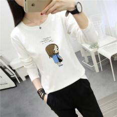 ขาย เสื้อเกาหลีเสื้อหญิงตัวอักษรคอกลม 186 สีขาว Unbranded Generic