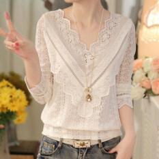 ขาย เสื้อลูกไม้ถักสีขาวผู้หญิง ยี่ห้อXiangxianfei สีขาว สุภาพร้านค้าที่ชื่นชอบ สีขาว สุภาพร้านค้าที่ชื่นชอบ ใน ฮ่องกง