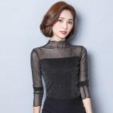 ขาย ซื้อ เส้นด้ายสุทธิใหม่ไม้หูครึ่งสูงเสื้อ Bottoming สีเงินสีดำ ใน ฮ่องกง