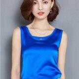ราคา ราคาถูกที่สุด เกาหลีสลิมหลาใหญ่ Bottoming เสื้อชีฟองเสื้อกั๊ก สีฟ้า