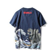 ราคา ฮาราจูกุ Bottoming เสื้อส่วนบุคคลเสื้อยืดฤดูร้อนระบายอากาศพิมพ์ สีฟ้า คลื่น จุด Unbranded Generic เป็นต้นฉบับ
