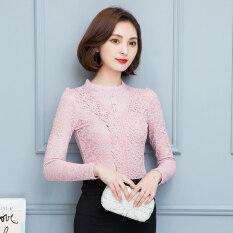 ซื้อ เสื้อลูกไม้เสื้อหญิงใหม่ของผู้หญิงหลาใหญ่ สีชมพู Unbranded Generic เป็นต้นฉบับ