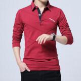 ซื้อ ผ้าฝ้ายชายปก Xl Bottoming เสื้อใหม่แขนยาวเสื้อยืด สีแดง Unbranded Generic ถูก