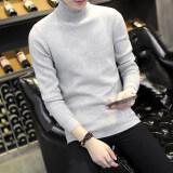 ซื้อ เกาหลีเสื้อผ้าบาง Bottoming เสื้อผู้ชายเสื้อกันหนาว 7002 สีเทา Unbranded Generic ถูก
