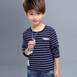 ราคา เกาหลีผ้าฝ้ายเด็กชายใหม่เสื้อยืด Bottoming เสื้อ น้ำเงิน เป็นต้นฉบับ