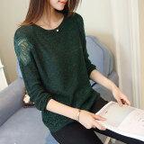 ขาย เสื้อลูกไม้บาง ผู้หญิง ยี่ห้อXuebeiqian สีเขียว สีเขียว ถูก