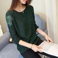 ราคา เสื้อลูกไม้บาง ผู้หญิง ยี่ห้อXuebeiqian สีเขียว สีเขียว ใหม่ ถูก