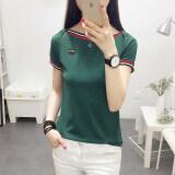 ขาย Jian Chuan เสื้อยืดคอปาด หญิง แขนสั้น เข้ารูป ไซส์ใหญ่ สไตล์เกาหลี สีพื้น 736 สีเขียว 736 สีเขียว Unbranded Generic ออนไลน์