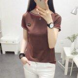 ราคา Jian Chuan เสื้อยืดคอปาด หญิง แขนสั้น เข้ารูป ไซส์ใหญ่ สไตล์เกาหลี สีพื้น 736 สีกากี 736 สีกากี