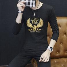 ราคา เสื้อยืดแขนยาวสำหรับผู้ชาย แขนยาว 804 Golden Eagle สีดำ แขนยาว 804 Golden Eagle สีดำ ใน ฮ่องกง