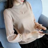 ขาย ซื้อ ออนไลน์ Ins เสื้อผ้าแฟชั่น เสื้อกันหนาวเกาหลีใหม่หญิง สีกากี