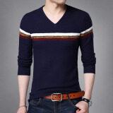 เสื้อไหมพรม แขนยาว คอวี เข้ารูป ผู้ชาย สไตล์เกาหลี 8342 สีน้ำเงินเข้ม 8342 สีน้ำเงินเข้ม ถูก