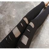ราคา ตาข่ายสีดำเพศหญิงนอกสวมใส่กางเกง Bottoming กางเกง สีดำ ใหม่ ถูก